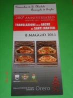 Brochure - TRASLAZIONE ARCHE Santi Martiri LIBERATA, CLEMENTE, DONATO E PIO In SOGLIO ORERO,Genova / 150° UNITA' ITALIA - Religione & Esoterismo