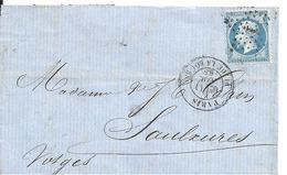 Lettre Etoile De Paris N°1 Sur N)22 - Marcophilie (Lettres)