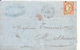 Lettre Etoile De Paris N°1 Sue N°38 - Marcophilie (Lettres)