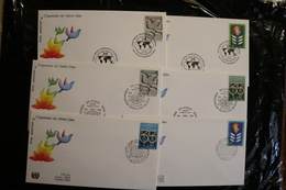 United Nations UN NY Vienna And Geneva 35th Anniversary Sets Day Of Issue 1980 A04s - Geneva - United Nations Office