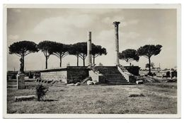 OSTIA ( Roma ) TEMPIO NEL PIAZZALE DELLE CORPORAZIONI - Altre Città