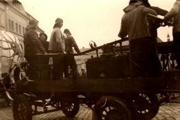 Photo Originale Cavalcade Et Défilé De Chars Décorés Le 01.03.1938 - Les Marins Avec Leur Pompe à Scaphandrier & Pieuvre - Luoghi