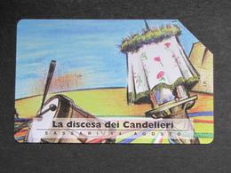 ITALIA  2496 C&C 451 GOLDEN - LA DISCESA DEI CANDELIERI - USATA - Italië