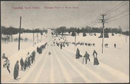 Toboggan Track On Mount Royal, Montreal, Quebec, C.1910 - Montreal Import Co Postcard - Montreal
