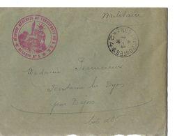 Militaria / Courrier D'un Militaire En 1917 / Réserve Des Transports N°5 / Dessin Insigne N°5 - 1914-18