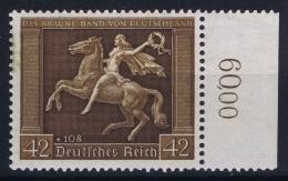 Reich: Mi Nr  671 Y  MNH/**/postfrisch/neuf Sans Charniere Little Bit Coloration Back Top Right - Ungebraucht