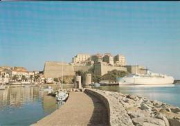 20---2B---CALVI---le Port-la Citadelle--( Bâteau Ferry )--voir 2 Scans - Calvi