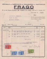BELGIË/BELGIQUE :1940: Facture De ## FRAGO, Rue Des Tanneurs, 52, Bruxelles ##  à ## Mr. DESMECHT à FONTAINE-l'ÉVÊQUE ## - 1900 – 1949
