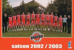 RCB équipe De Basket De REIMS Saison 2002/2003 - Basket-ball