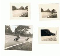 FRANCORCHAMPS 1951 Course De Motos - Lot De 4 Photos (+/- 4,5 X 6 Cm) - Moto, Oldtimer (b157) - Sport
