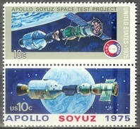 1976 10 Cents Apollo-Soyuz Space Pair Mint Never Hinged - United States