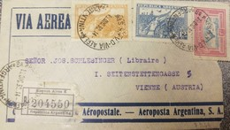 O) 1930 ARGENTINA, AIRMAIL - AEROPOSTALE, MARCH OF THE VICTORIOUS INSURGENTS A117 20 C. ORANGE AND 12 C. BLUE, WINGS CRO - Airmail