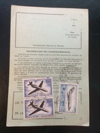 FRANCE - PA ( 2 N° 40 ET 1 N° 42 / ORDRE DE RÉEXPEDITION TEMPORAIRE DES PTT DE COLMAR  7 7 1970 - Airmail