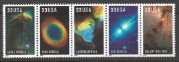 2000 33 Cents Hybble Space Images, Strip Of 5, Mint Never Hinged - United States