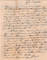 1827 - Perpignan - Lettre D'un Militaire à M. EYMARD à LA GARDE FREINET (83) - Voir Texte - - Historical Documents
