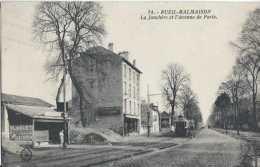 92 - Rueil-Malmaison - La Jonchère Et L'avenue De Paris - Circulé En 1947  Animée - Tramways - TBE - Rueil Malmaison