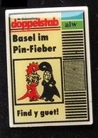 ZEITUNG BASEL - DOPPELSTAB - BASEL IM PIN FIEBER - FIND Y GUET !  - JOURNAL BÂLOIS - SUISSE - SWISS - SCHWEIZ -  (ROSE) - Medien