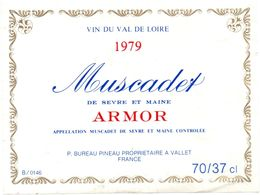 Etiket Etiquette - Vin - Muscadet Armor - Val De Loire 1979 - Unclassified