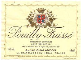 Etiket Etiquette - Vin - Pouilly Fuissé - André Chalandon - La Chapelle De Guinchay - Unclassified