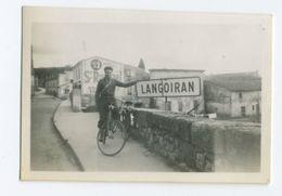 Homme à Vélo à LANGOIRAN - Cycling