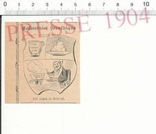 Presse 1904 Humour Blason Du Député Homme Politique à Table Soupe Soupière Ancienne Motte De Beurre Pichet Vin 51C12 - Non Classés