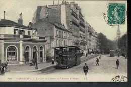 75014  La Gare De Ceinture Et L'Avenue D'Orléans - Arrondissement: 14