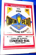 Football Programms - SPARTAK Moscow Vs.  REAL Madrid, Euro Cup 1991 ,  № 7. - Books