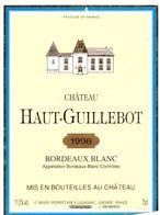 Etiket Etiquette - Vin - Chateau Haut Guillebot - Bordeaux Blanc 1996 - Unclassified