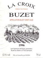 Etiket Etiquette - Vin - La Croix Buzet 1996 - Unclassified