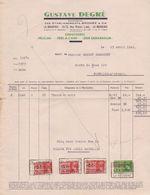 BELGIË/BELGIQUE :1940: Facture De ## GUSTAVE DEGRÉ, LA BOUVERIE ##  à ## Mr. DESMECHT à FONTAINE-l'ÉVÊQUE ## - Textile & Vestimentaire