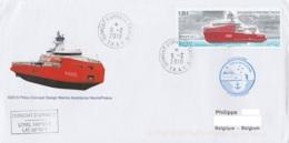 TAAF - Terre Adélie - Bateau ASTROLABE Obl. Dumont D'Urville 6-2-2018 / Env.illustrée - Terres Australes Et Antarctiques Françaises (TAAF)