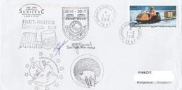TAAF - Terre Adélie - Prog. Scientifiques à CONCORDIA Obl. Dumont D'Urville 1-2-2018 - Lettres & Documents
