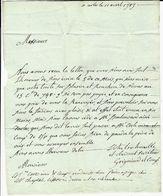 1787 LETTRE GRIGNIARD VERRERIE DE TRINQUETAILLE Pour CHAPTAL à MONTPELLIER V.TEXTE - Manuscripten