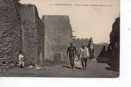 Cpa Colomb Béchar Entrée Du Ksar De Kenadsa Janvier 1915 - Bechar (Colomb Béchar)