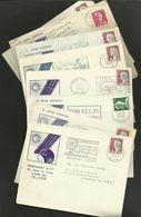 Lot 9 Secap Différentes De LYON - RHONE / Enveloppes Commerciales - Sellados Mecánicos (Publicitario)