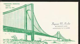 J) 1964 UNITED STATES, VERRAZANO-NARROWS BRIDGE, FDC - United States