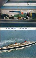 Carnet De 12 Images De L'intérieur Du Paquebot FRANCE, - Bateaux