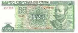 Cuba P.116 5 Pesos 2011  Unc - Cuba
