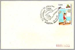 53 Aniversario COHETE POSTAL - 53 Anniversary POSTAL ROCKET. Habana 1992 - Correo Postal
