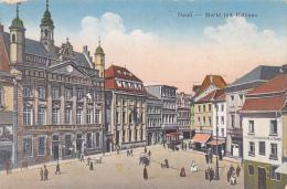 "Neuss - Markt Mit Rathaus ""Papier - Schreibwaren M. J. Tonet"" Animation - Circulé 1923, Sous Enveloppe - Neuss"