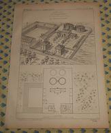 Plan De L'Usine à Gaz Pour L'éclairage De 1500 Becs.  1869 - Public Works
