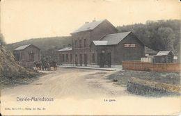 Denée-Maredsous - La Gare - Attelage - Colorisé - Nels. Série: 22. N° 24 - Voir 2 Scans - Anhée