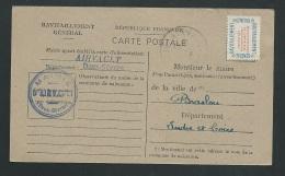 Carte Ravitaillement   Cachet Mairie De Airvault ( Deux Sèvres , 79 )   Ab10119 - Marcofilie (Brieven)