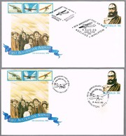 70 Años PRIMER CORREO AEREO ADELAIDE-MINLATON Y MINLATON-ADELAIDE. Set 2 Sobres. 1989 - Correo Postal