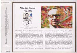 FEUILLET CEF TIRAGE LIMITE, MICHEL DEBRE (1912-1996), 1998 - Célébrités