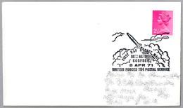FIRST RAF ROCKET MAIL - PRIMER CORREO EN COHETE. BFPS 1971 - Correo Postal