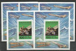 5x LIBYA - MNH - Transport - Airplanes - Airplanes