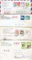 Corée Du Sud South Korea Lot De 12 Lettres Du Père Ray Spies Catholic Church Père Damien Vers La Belgique - Corée Du Sud
