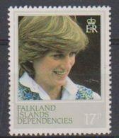 Falkland Islands Dependencies 1982 Princess Diana 17P Perf 13,5 ** Mnh (38019) - South Georgia