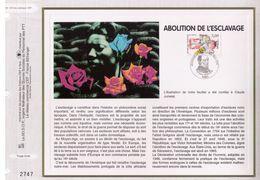 FEUILLET CEF TIRAGE LIMITE, ABOLITION DE L'ESCLAVAGE, 1998 - Autres